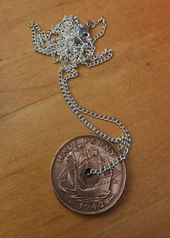 1942 half penny coin reverse