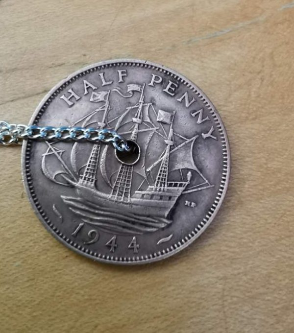 1944 half penny coin