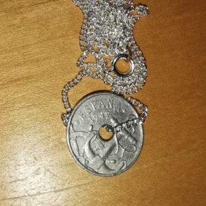 1949 50cents pendant