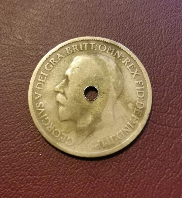 1916 half penny coin
