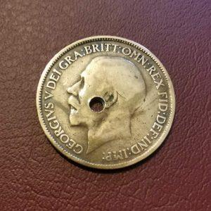 1919 half penny coin