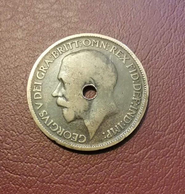 1920 half penny coin