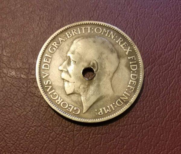 1924 half penny coin