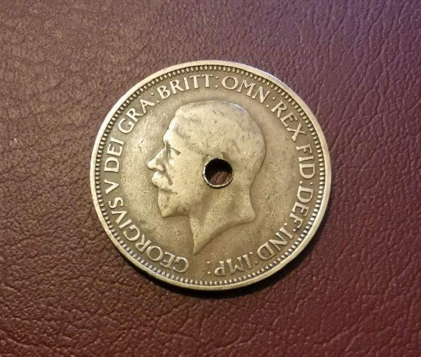 1933 half penny coin