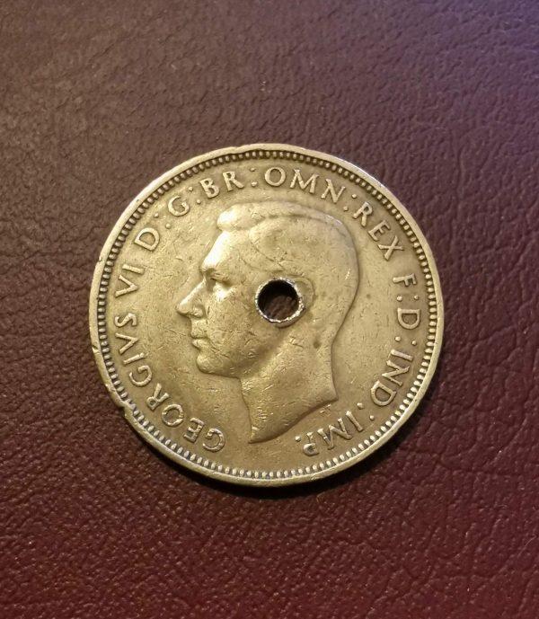 1943 half penny coin