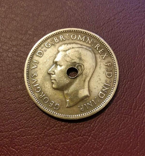 1945 half penny coin