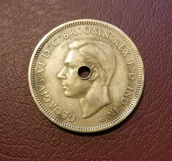 1948 half penny coin