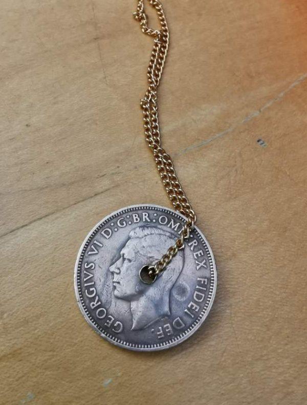 1952 British half penny coin