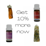 10% sale button for thyme keepers crystals